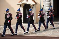Changement de la cérémonie de gardes au Monaco Photo libre de droits
