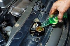 Changement de liquide réfrigérant Image libre de droits
