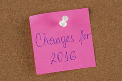 Changement de note de rappel pour 2016 Photo libre de droits