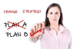 Changement de stratégie de plan d'action. Photographie stock libre de droits