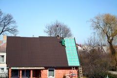 Changement de toit Photographie stock libre de droits