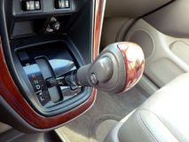 Changement de vitesse d'automobile Images libres de droits