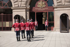 Changement des gardes au bureau du président de la Bulgarie Photo stock