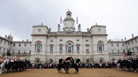 Changement des gardes de cheval royales à Londres Photo stock