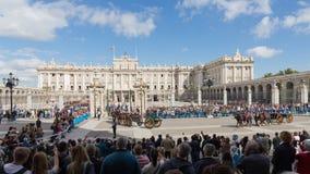 Changement des gardes de garde, l'Espagne Photo libre de droits