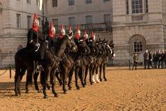 Changement du dispositif protecteur, défilé de dispositifs protecteurs de cheval. Images libres de droits