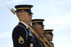 Changement du dispositif protecteur de cimetière d'Arlington Image libre de droits