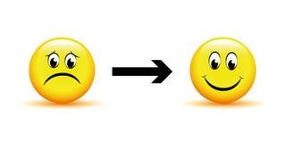 Changement pensant de négatif au positif illustration de vecteur