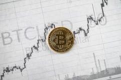 Changements de cryptographie de Bitcoin photographie stock libre de droits