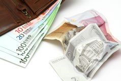 Changeover to the euro in Estonia Stock Image