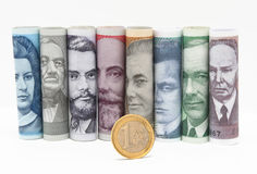 Changeover to the euro in Estonia stock images