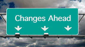 Changes Ahead stock footage