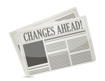 Changes ahead newspaper stock illustration