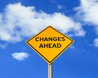 Changes Ahead Road. Changes Ahead - Road Warning Sign Royalty Free Stock Image