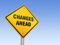 Changes ahead road sign Royalty Free Stock Images