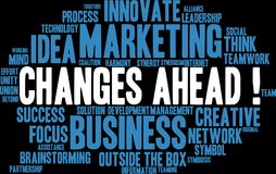 Changes Ahead Word Cloud. On a white background Stock Images