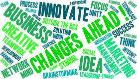 Changes Ahead Word Cloud. On a white background Royalty Free Stock Photo