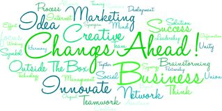 Changes Ahead Word Cloud. On a white background Royalty Free Stock Images