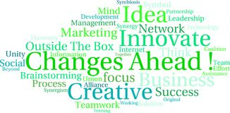 Changes Ahead Word Cloud. On a white background Stock Image