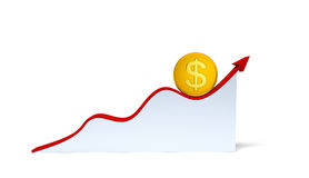 Changes in the dollar exchange rate Royalty Free Stock Images