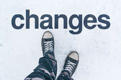 Changes in life, conceptual image stock images