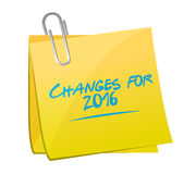 Changes for 2016 memo post sign Stock Images