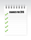 Changes for 2016 notepad illustration Royalty Free Stock Images