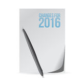 Changes for 2016 paper and pen sign. Illustration design graphic royalty free illustration