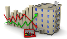 Changes in real estate prices. Concept Royalty Free Stock Photos