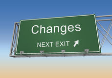 Changes road sign Stock Photos