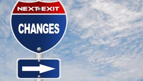 Changes road sign Royalty Free Stock Photos