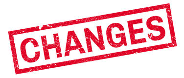 Changes rubber stamp Royalty Free Stock Photos