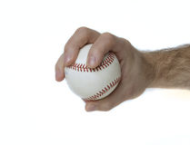 Changeup Grip. Illustrates how to hold a baseball to throw a changeup Royalty Free Stock Photography