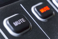 Changeur de production sonore d'émission de télévision images stock