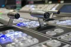 Changeur visuel de production d'émission de télévision images libres de droits