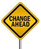 Changez en avant le signe Image stock