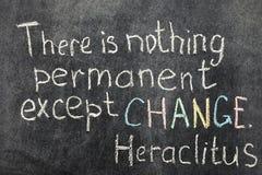 Changez est permanent Image stock