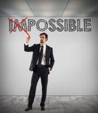 Changez impossible en possible photographie stock