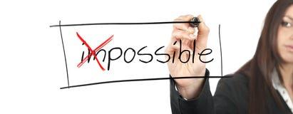 Changez l'impossible en possible Photos stock