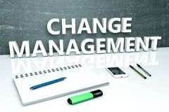 Changez le concept des textes de gestion Images libres de droits