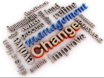 Changez le management Photographie stock libre de droits