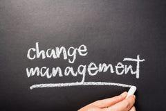 Changez le management Image libre de droits