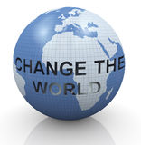 Changez le monde illustration stock