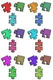 changez le puzzle facile des parties eps8 de couleurs remettant à la côte le vecteur Image stock