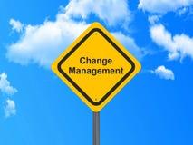 Changez le signe de gestion Photographie stock