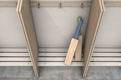 Changez les cintres de compartiments de pièce et les mettez hors jeu illustration stock