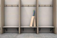 Changez les cintres de compartiments de pièce et les mettez hors jeu illustration de vecteur