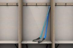 Changez les compartiments de pièce avec des bâtons de hockey illustration de vecteur
