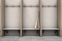 Changez les compartiments de pièce avec la batte de baseball illustration de vecteur