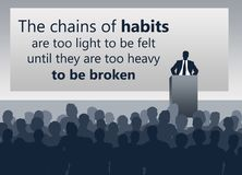 Changez les mauvaises habitudes illustration de vecteur